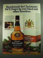 1972 Seagram's Benchmark Bourbon Ad - He'll Forget