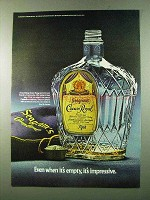 1972 Seagram's Crown Royal Ad - When It's Empty