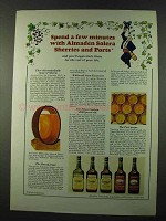 1972 Almaden Sherries and Ports Ad - Few Minutes
