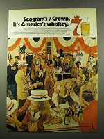1972 Seagram's 7 Crown Whiskey Ad - It's America's