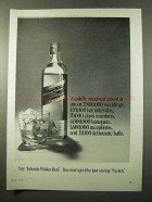 1972 Johnnie Walker Red Label Scotch Ad - Coldly