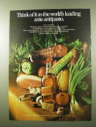 1972 Johnnie Walker Red Label Scotch Ad, Ante-Antipasto