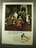 1972 Mumm Champagne Ad - Marzipan, Carols, Candles