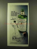 1972 Burnett's Gin Ad - Why Its Maker Was Knighted