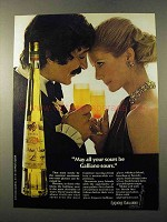 1972 Galliano Liquore Ad - May All Your Sours Be