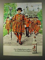 1972 Beefeater Gin Ad - England's Great Traditions