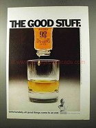 1972 Old Grand Dad Bourbon Ad - All Good Things Come to an End