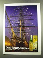 1972 Cutty Sark Scotch Ad - At Christmas
