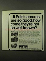 1972 Petri Cameras Ad - Good, Not So Well Known
