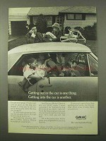 1972 GMAC Financing Ad - Getting Out in Car One Thing