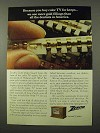 1972 Zenith Color TV Ad - We Use More Gold Fillings