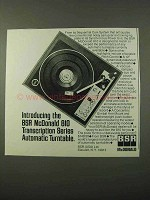 1972 BSR McDonald 810 Transcription Series Turntable Ad