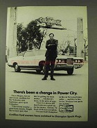 1972 Champion Spark Plugs Ad - Change in Power City