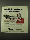1972 Thrifty Rent-a-Car Ad - Have a Choice