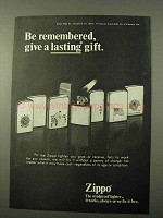 1972 Zippo Lighter Ad - Give a Lasting Gift