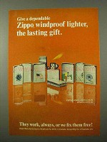 1972 Zippo Lighter Ad - The Lasting Gift