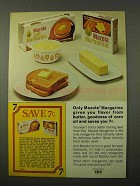 1972 Mazola Margarine Ad - Flavor of Butter