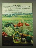 1972 Wish-Bone Italian Dressing Ad - Like Salads