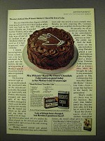 1972 Hershey's Cocoa and Baking Chocolate Ad - Cake