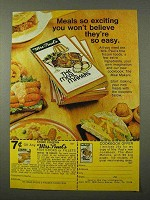 1972 Mrs. Paul's Fish Sticks or Fillets Ad - Exciting
