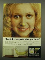 1972 Du Pont Lucite Paint Advertisement - Paint What You think