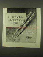 1972 Cross Pens Ad - For the Graduate
