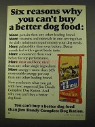 1972 Jim Dandy Complete Dog Ration Ad - Six Reasons