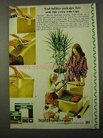 1972 3M Scotch Package Sealing Tape Ad - Holiday Packages