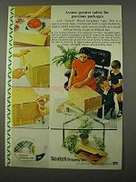 1972 3M Scotch Strapping Tape Ad - Precious Packages