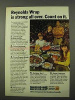 1972 Reynolds Wrap Ad - Strong All Over
