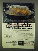 1972 Reynolds Brown-in-Bag Ad - Bastes Meat