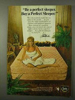 1972 Serta Perfect Sleeper Mattress Ad - Joey Heatherton