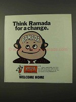 1972 Ramada Inn Ad - Think Ramada for a Change