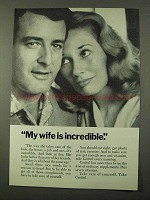 1972 Geritol Supplement Ad - Wife is Incredible
