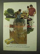 1972 Dial Soap Ad - Aren't You Glad - Outdoor Barbecue