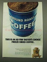 1972 Taster's Choice Freeze-Dried Coffee Ad - This AD