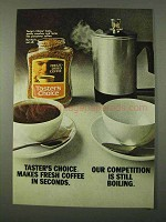 1972 Taster's Choice Freeze-Dried Coffee Ad - Seconds