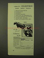 1972 Celestron 1250mm f/10 Telephoto Lens Ad