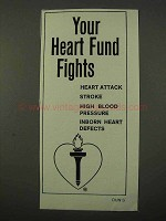 1972 Heart Fund Ad - Your Heart Fund Fights