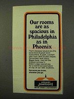 1972 Howard Johnson's Motor Lodges Ad - Rooms Spacious