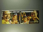 1972 McDonald's Restaurant Ad - Smile Say Cheeseburger