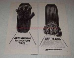 1972 Armstrong Rhino Tuff Tires Ad - Grip the Road