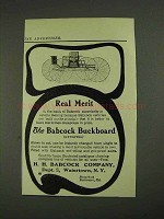 1908 H.H. Babcock Buckboard Carriage Ad - Real Merit