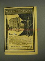 1908 Waterman's Ideal Fountain Pen Ad - First Day