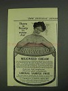 1908 Milkweed Cream Ad - Beauty in Every Jar
