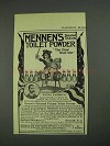 1908 Mennen's Borated Talcum Toilet Powder Ad - Box Lox