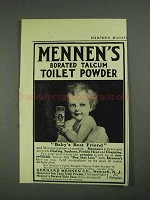 1908 Mennen's Borated Talcum Toilet Powder Ad - Friend