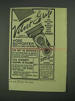 1908 George Frost Velvet Grip Hose Supporter Ad