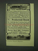 1908 Racine Boat Ad - The Product