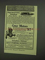 1908 Gray Motor Boats Ad - High Speed 18 ft. Runabout - NICE!